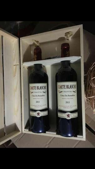 礼盒装 送礼有面子法国红酒麦洛原瓶进口AOC级 布兰奇红葡萄酒750ml*2瓶 晒单图
