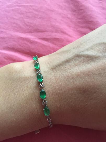 欧采妮 祖母绿手链2克拉 18K金镶嵌伴钻石宝石手链 彩宝手链 配证书 7个工作日高级定制 晒单图