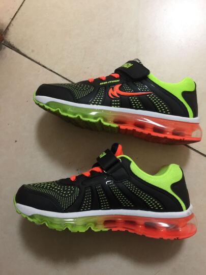 开心米奇(BB.MIQI)儿童气垫鞋 男童鞋鞋面女童运动鞋中大童儿童鞋 F35636277 黑绿36码 晒单图