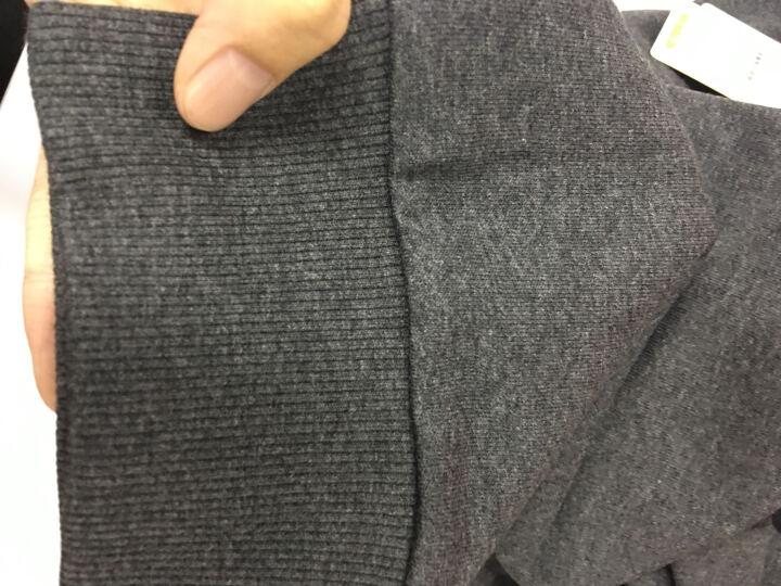 乔丹男装上衣男式针织卫衣男长袖休闲套头衫运动服 黑灰 XL 晒单图