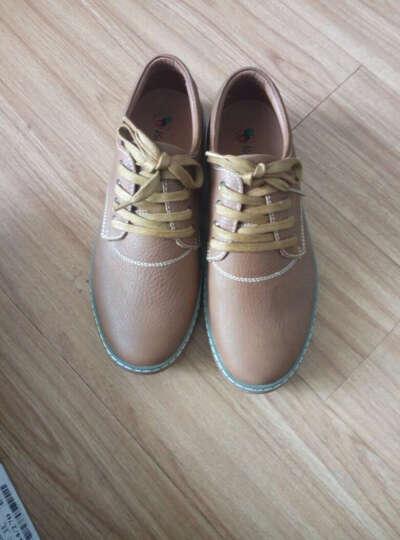 西域骆驼(VANCAMEL)流行男鞋2016新款日常休闲男士休闲皮鞋保暖男靴 57暗棕 43 晒单图