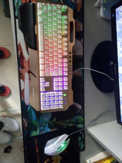 imice 游戏键盘鼠标套装有线金属悬浮背光牧马人风格发光机械手感键盘电脑网吧键鼠套装 MJ-009键盘+LDK鼠标白色 晒单图