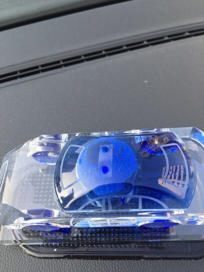 云族汽车香水摆件车载香水座车内饰品创意趣味旋转香薰车模型汽车用品 清新绿 晒单图