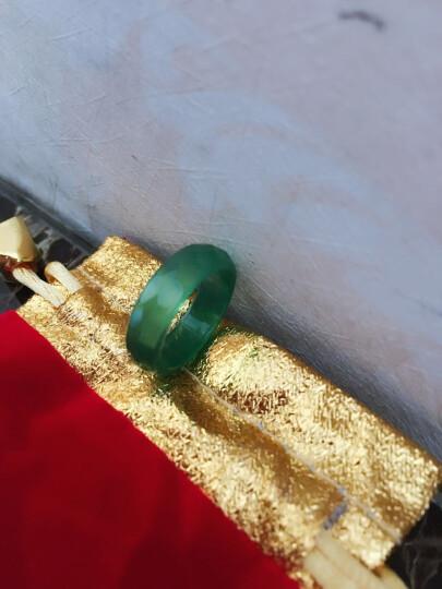 【爱在母亲节】玉人香  玛瑙戒指男女款指环玉器戒指玉石指环 多色玉髓戒指 黑色 直径约17mm 晒单图
