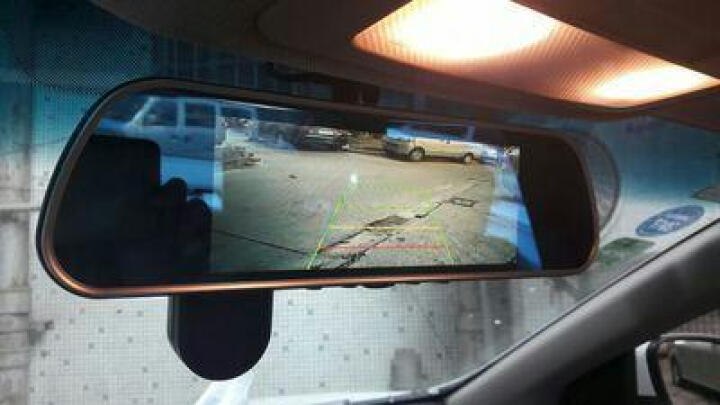 凌度 智能行车记录仪 高清夜视 前后双镜头倒车影像 车载后视镜导航 电子狗预警测速仪一体机 4G云镜 8吋三录声控导航版电子狗-32G卡(套餐十) 晒单图