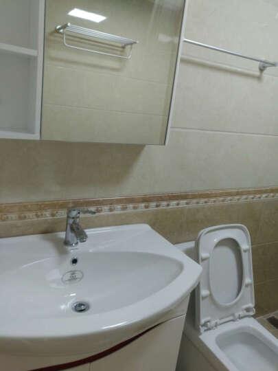 法恩莎卫浴浴室柜卫浴面盆组合套装洗手盆洗漱台FPG3637台盆套装现代简约80cm带镜箱 FPG3637C含龙头 送安详询客服 晒单图