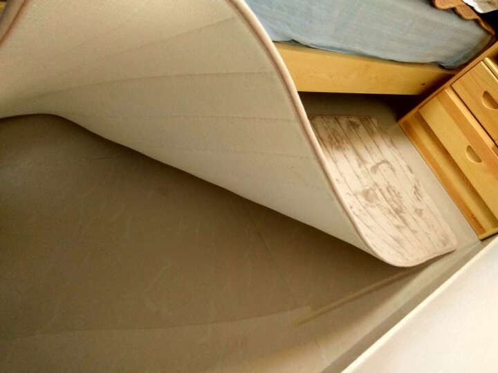 明易地垫 进门地垫门口入户垫厨房门垫 吸水脚垫浴室防滑垫床边阳台地垫儿童爬行瑜伽垫 卡其圆形 500MMx800MM 晒单图