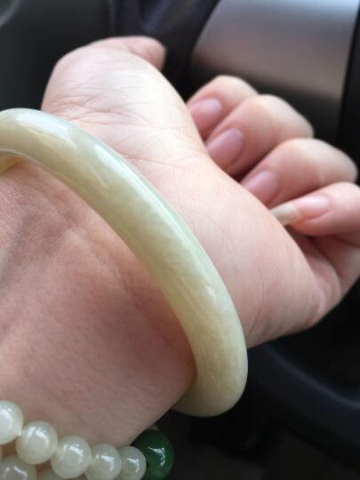 西玉 和田玉手镯白玉手镯女款玉镯玉石玉镯子玉器手镯带证书 羊脂玉手链(直径10mm,21颗) 晒单图