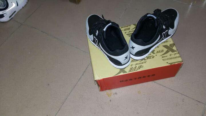 特步(XTEP) 男鞋运动鞋男春夏季网面透气飞线跑步鞋男生慢跑鞋子男款9283 兰桔 40 晒单图