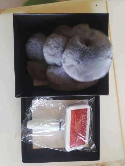 装死兔子毛绒玩具挂饰品 獭兔毛背包书包汽车挂件钥匙扣公仔 女生礼物 橘色 晒单图