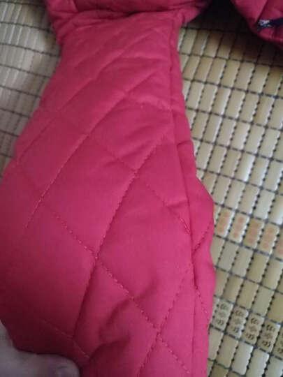 优米仓童装2016冬季新款女童冬装棉衣中长款连帽儿童棉服外套中大童棉袄童装加棉加厚保暖上衣 红色 160码建议身高150cm左右 晒单图
