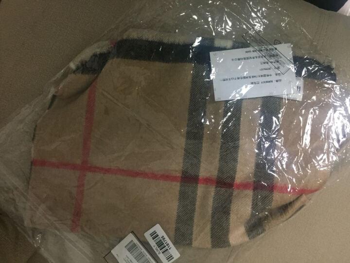 BURBERRY 巴宝莉 男女通用款缤纷红色格纹山羊绒围巾 39937421 晒单图