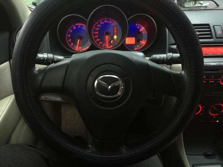 德克顿 汽车方向盘套 四季通用皮套车把套大众本田丰田福特马自达奥迪起亚长城现代通用真皮 黑蓝色 马自达CX-5/M3/M6/CX-7睿翼阿特兹 晒单图