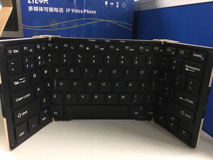B.O.W 航世 HB099 折叠蓝牙无线键盘 笔记本有线家用办公游戏迷你小键盘背光 黑色键盘 晒单图