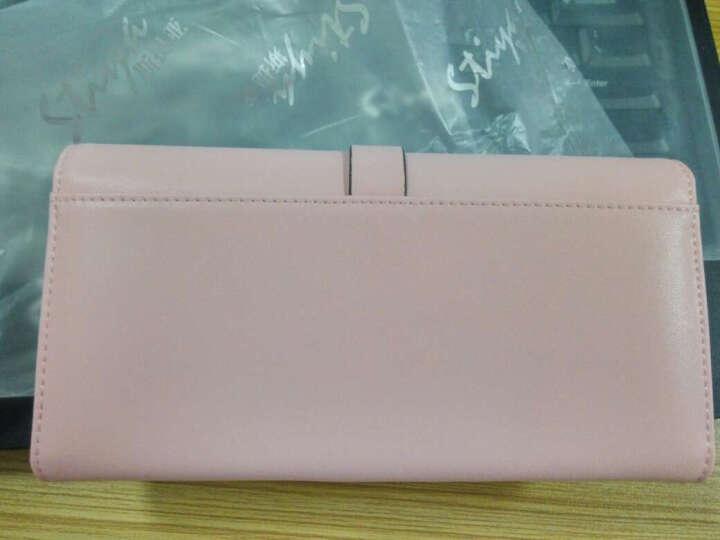 STIYA斯提亚女士钱包 新品牛皮拉链手拿包女式短款多色多卡位手机包大容量零钱夹 粉色长款 晒单图