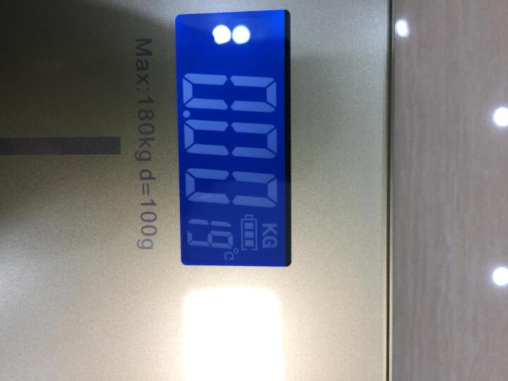 楠松称重电子秤人体秤体重秤家用计电子称 玫瑰金(0.2KG起称) 晒单图