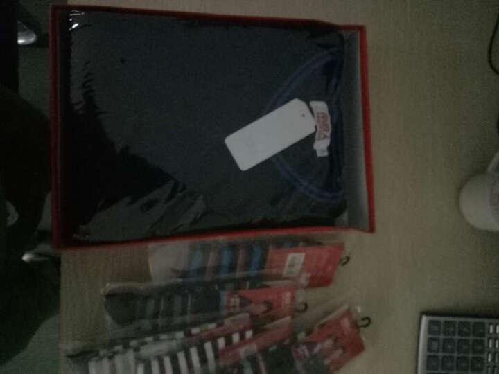南极人保暖内衣男士加绒加厚美体内衣秋衣秋裤套装女棉裤 V领 藏青(蓝边) 3XL(男185/110) 晒单图