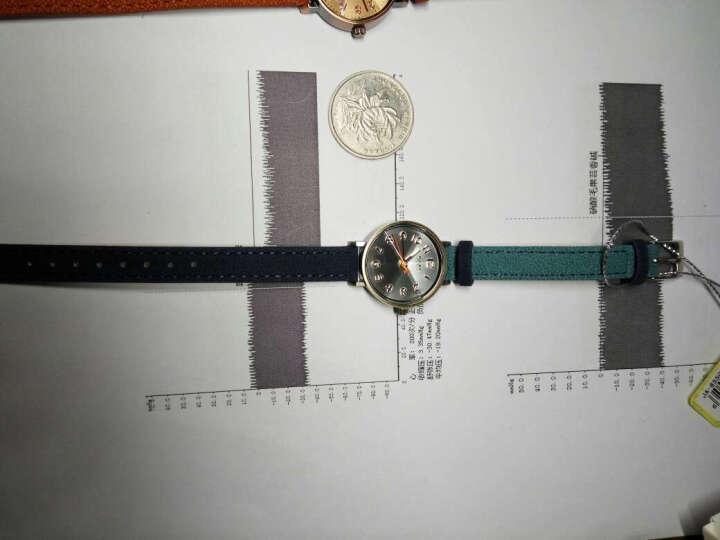 聚利时(Julius)韩国品牌细皮带手表简约复古小表盘双色车线表带石英女表学生表 JA-855 棕色 晒单图