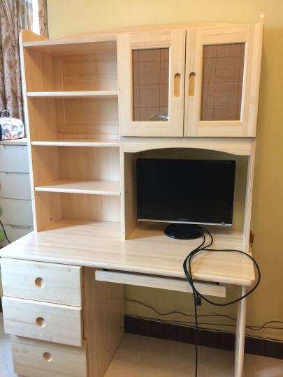 邦利达居电脑桌实木书桌书架组合芬兰松木书柜 1.2米直排芬兰松木书桌+书架 晒单图