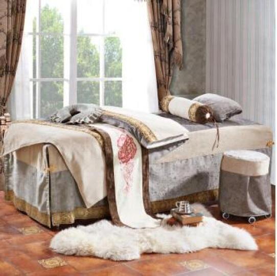 秋知燕高端欧式美容院床罩熏蒸理疗按摩院专用床罩