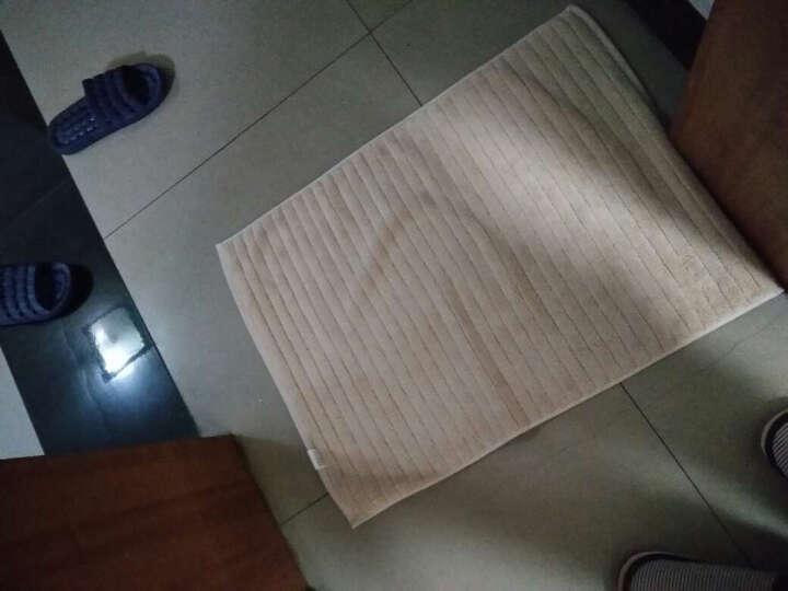 三利 纯棉加厚毛圈吸水地巾 浴室防滑脚垫 50×72cm 卡其色 晒单图