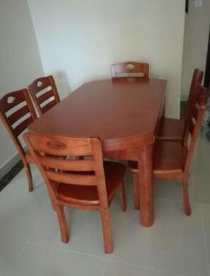 尚品·彼岸 全实木餐桌椅泰国橡胶木折叠饭桌伸缩餐台方桌变圆桌小户型桌椅套装 胡桃木色 一桌六椅 晒单图