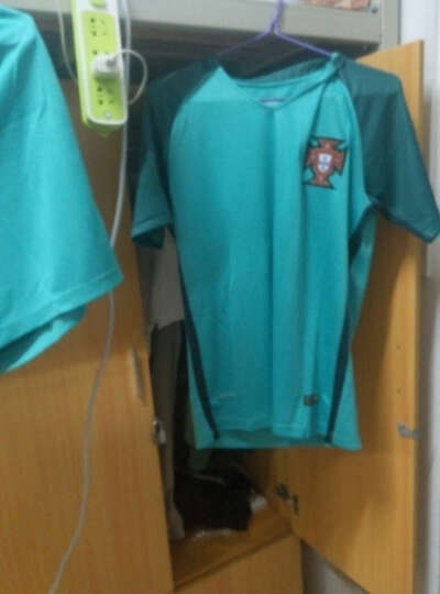 简酷龙足球服套装 欧洲杯球衣 国家队球员版短袖足球队服 足球训练服定制 18-19巴萨客场荧光绿 2XL(建议身高175-180cm) 晒单图