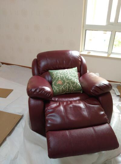 翰艺 沙发 真皮沙发 意式极简工业风进口头层牛皮沙发小户型三人位沙发 脚踏(需搭配沙发购买) 晒单图