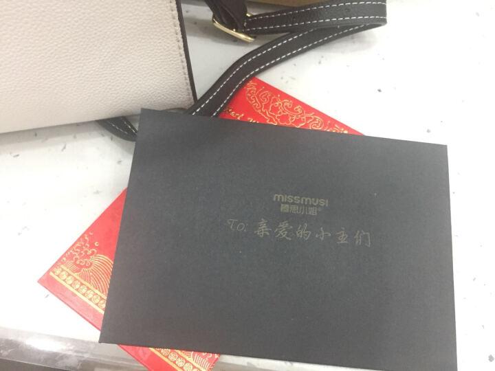 暮思小姐(MISS MUSI)新款时尚单肩包女士大包牛皮包包韩版手提女包 MINI纪念版白配黑边 晒单图