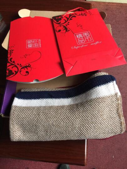 2017新款韩版潮百搭男士围巾女针织毛线保暖超长款 灰蓝色 晒单图