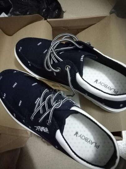卡帝乐鳄鱼CARTELO低帮透气帆布鞋2017新款男士韩版系带休闲男鞋 浅兰色 40 晒单图