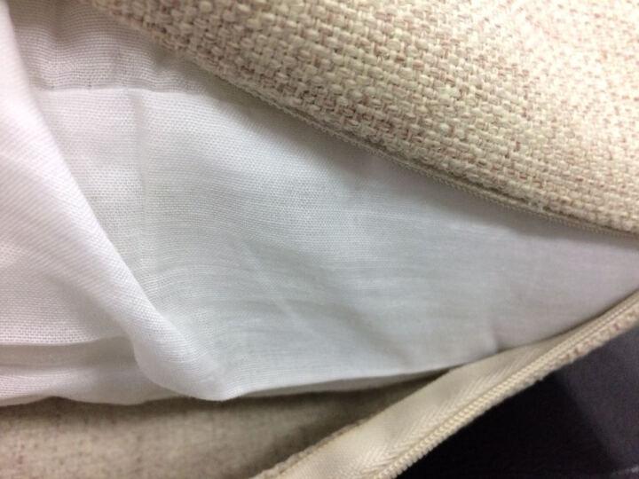 棉麻抱枕套靠垫客厅沙发靠垫午睡枕趴睡枕学生办公室午休趴趴枕汽车腰枕 英伦-米字旗 53*53cm大号含芯 晒单图