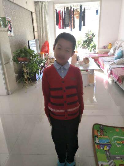 巴拉巴拉童装男童毛衣套头中大童秋冬新款儿童假两件针织衫男 中国红 140 晒单图