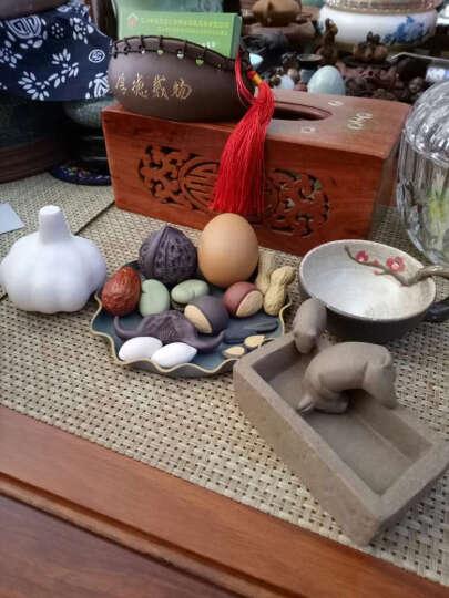 爱壶人 宜兴紫砂茶宠摆件精品可养茶具创意仿真果盘花生瓜子红枣鸡蛋板栗 水煮花生10个装 晒单图