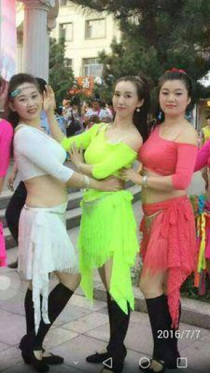 舞姿翼 春夏款肚皮舞服装练习服练功服套装印度舞蹈表演服演出服新款短裙衣服QC2235 西瓜红(4件套) 均码 晒单图