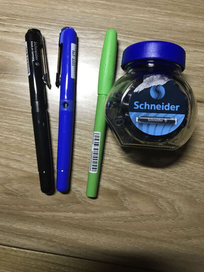 德国原装 SCHNEIDER 施耐德  学生儿童练字钢笔 成人商务铱金F尖钢笔 机器人 粉色 加30支 黑色瓶装墨胆 晒单图