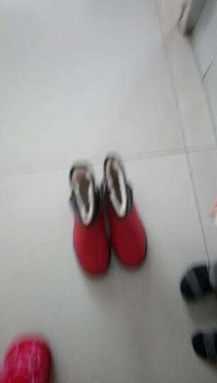 艾朵乐新款韩版冬季休闲平底雪地靴保暖加厚防水女靴 白色 39 晒单图