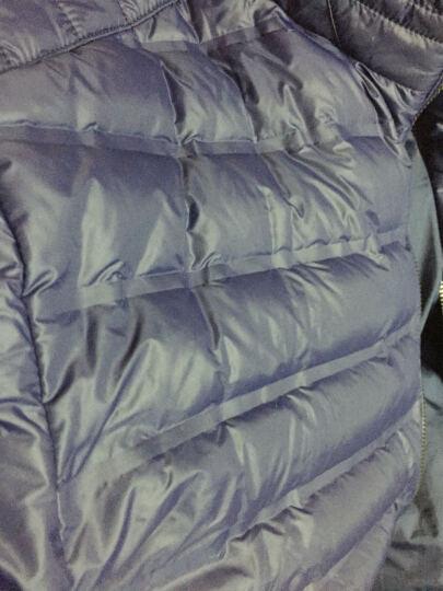 七匹狼男装轻薄羽绒服男2019年新款轻薄外套商务休闲短款修身男士羽绒服1710 101色藏青 170/88A(L) 晒单图
