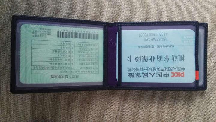 夏利豪 CHARRIOL男士超薄银行卡包头层牛皮名片夹驾照夹 CF613-4581 晒单图