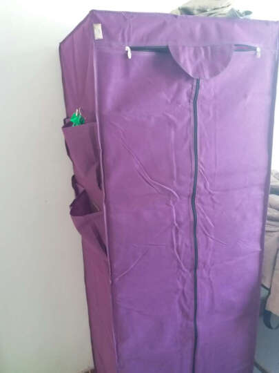 简易衣柜 布衣柜加固钢管组合折叠小号单人