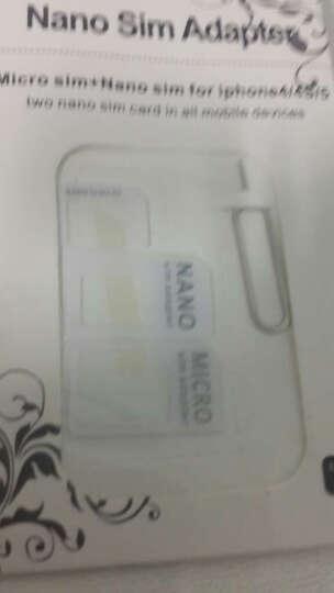 【京东自营仓储】拓恩 手机SIM卡套卡槽卡托 适用苹果4s/5s/6splus/三星 白色四合一还原卡槽 晒单图