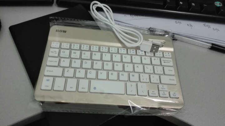 BOW航世 多系统通用无线蓝牙迷你键盘 适用小米华为联想苹果iPad平板和智能手机 7.9英寸金色键盘+黑色皮套 晒单图