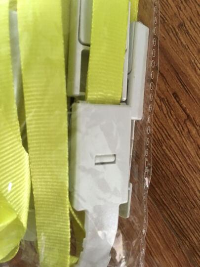 优和(UHOO) 6712 糖果色证件卡套挂绳 不褪色 丝绸质感 黄绿 12根/包 证件卡 工作证 员工牌 胸卡 吊绳 晒单图