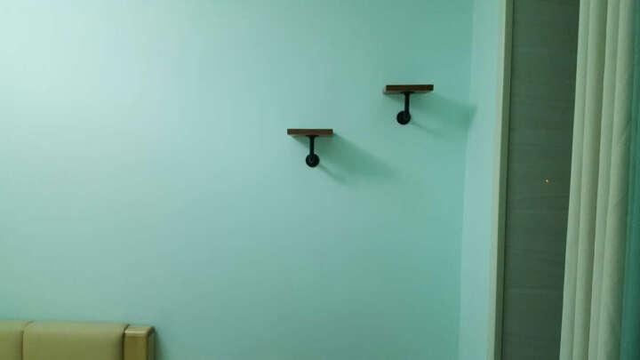 美式复古铁艺水管墙上搁板置物架书架隔板壁挂一字搁板厨房收纳架隔板挂墙客厅书架简约现代墙壁创 色卡在宝贝描述 晒单图