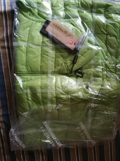 欧魅菲雨诗 秋冬装新款轻薄羽绒马甲女装大码保暖糖果色短款无袖背心外套 (红色) XL(115-125斤左右) 晒单图