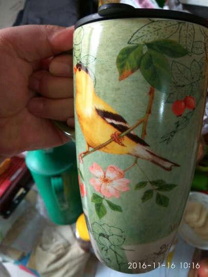 爱屋格林(Evergreen)创意马克杯带盖印花陶瓷杯有盖办公室杯星巴克式水杯咖啡杯 晒单图