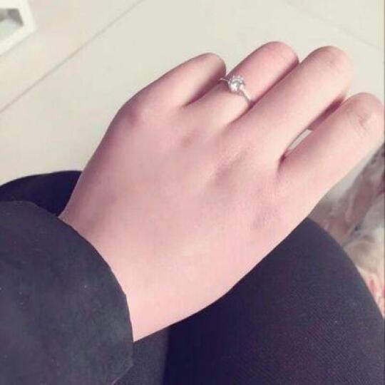 爱情公寓情侣戒指925银开口对戒指环仿真钻戒子婚戒刻字 一对价 韩版时尚首饰品 热销 缠绵的爱 情侣戒指  送手链 晒单图