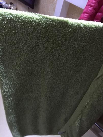 艾娜骑士 婴儿浴巾竹纤维新生儿大浴巾宝宝竹纤维澡巾 绿色100*100 晒单图