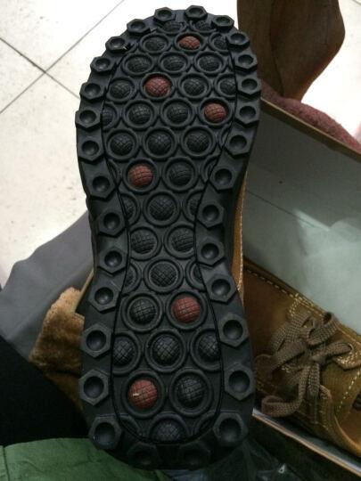 蒙洛里克 休闲鞋 男英伦商务头层牛皮休闲男鞋户外真皮大头皮鞋2929 棕色 39 晒单图