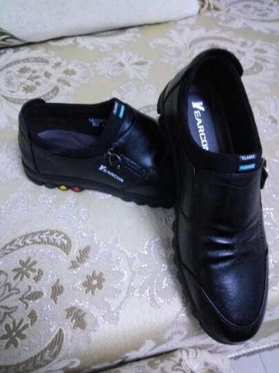 意尔康皮鞋休闲男鞋牛皮时尚潮流软面舒适套脚单鞋8412ZA97023W 棕色 41 晒单图